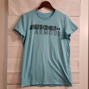 Under Armour Blue womens Large classic tee